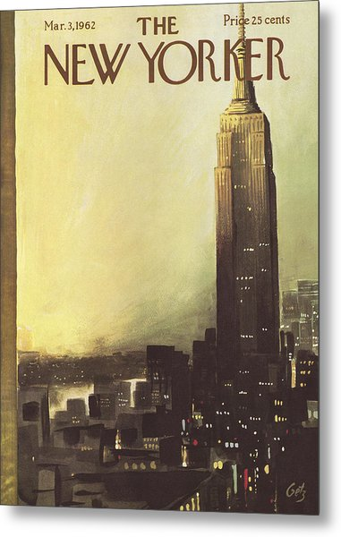 The New Yorker Cover - March 3rd, 1962 Metal Print