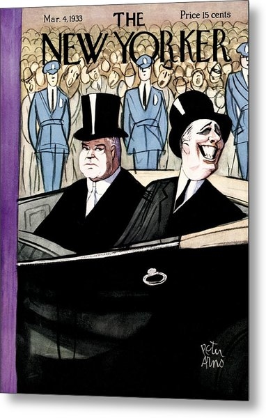 The New Yorker Cover - March 4th, 1933 Metal Print by Peter Arno
