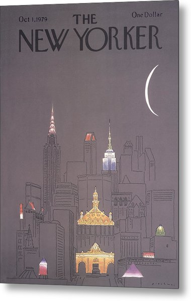 The New Yorker Cover - October 1st, 1979 Metal Print