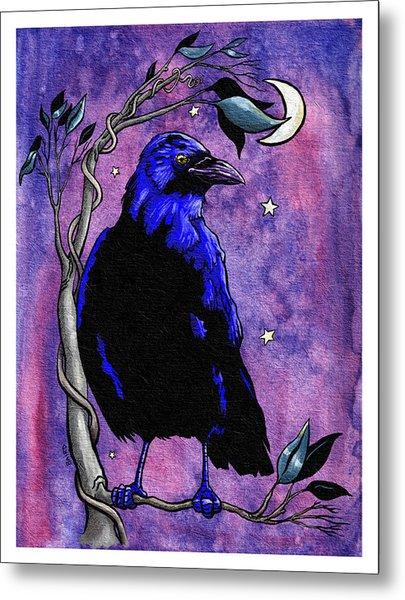 The Night Raven Metal Print by Baird Hoffmire