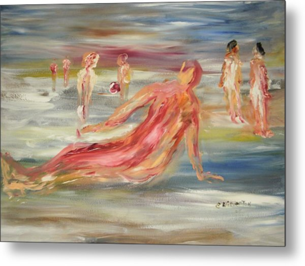 The Nude Beach Metal Print by Edward Wolverton