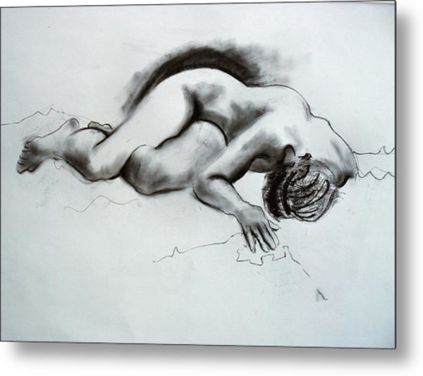 The Nude Model Metal Print by Richard Tuvey