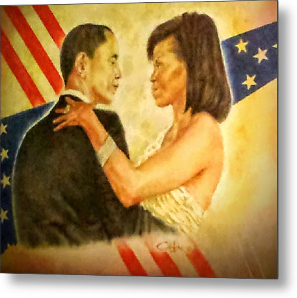 Barack And Michelle Metal Print