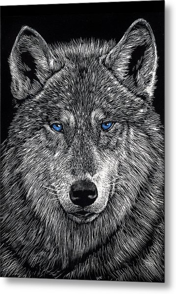 The Obligitory Wolf Metal Print