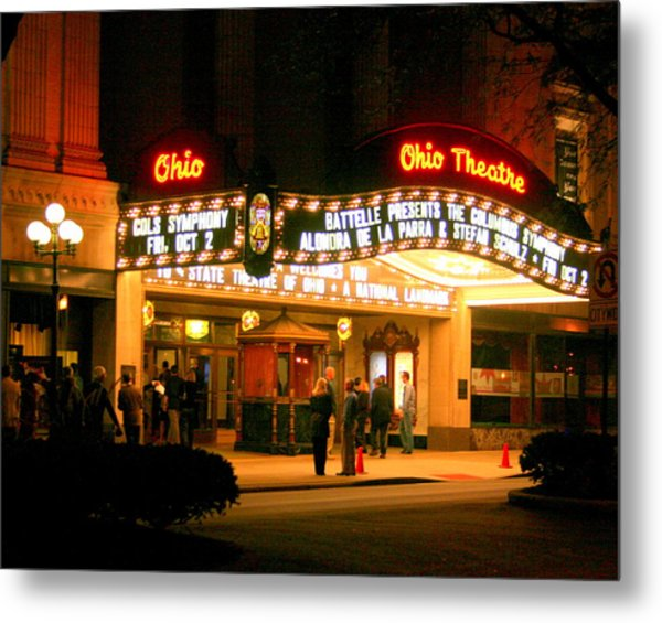 The Ohio Theater At Night Metal Print