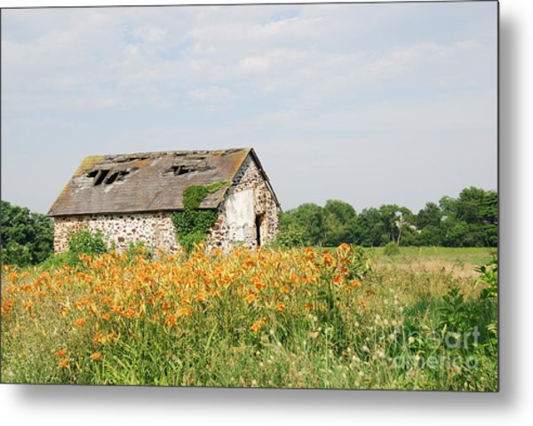The Old Barn In Moorestown Metal Print