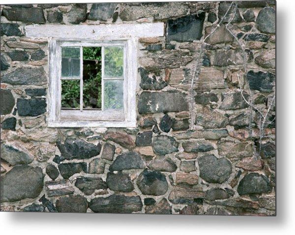 The Old Barn Window Metal Print