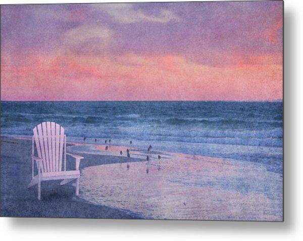 The Old Beach Chair Metal Print