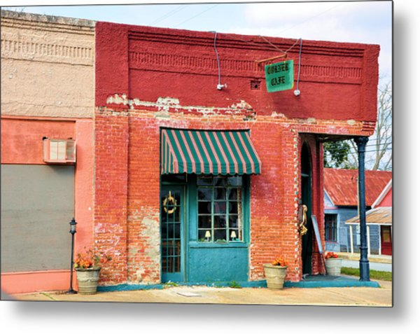 The Old Coffee Cafe Metal Print by Jan Amiss Photography