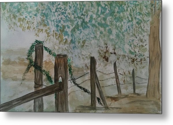 the Old fence Metal Print