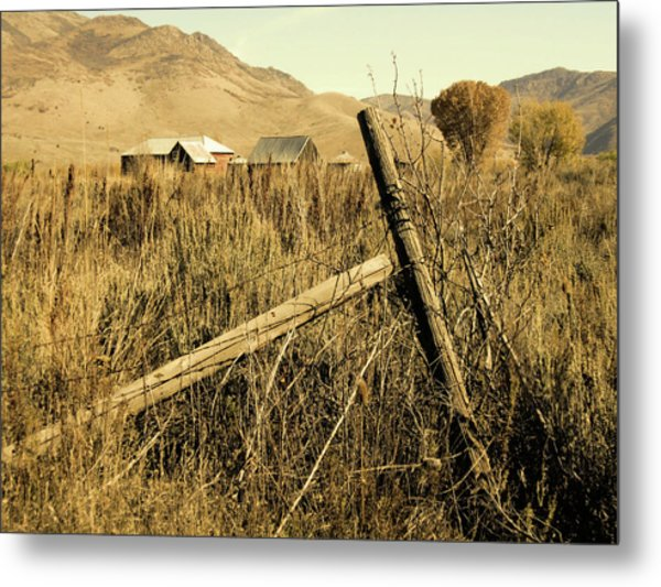 The Old Fence Post Metal Print