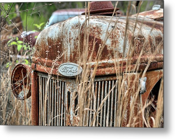 The Old Ford Tractor Metal Print by JC Findley
