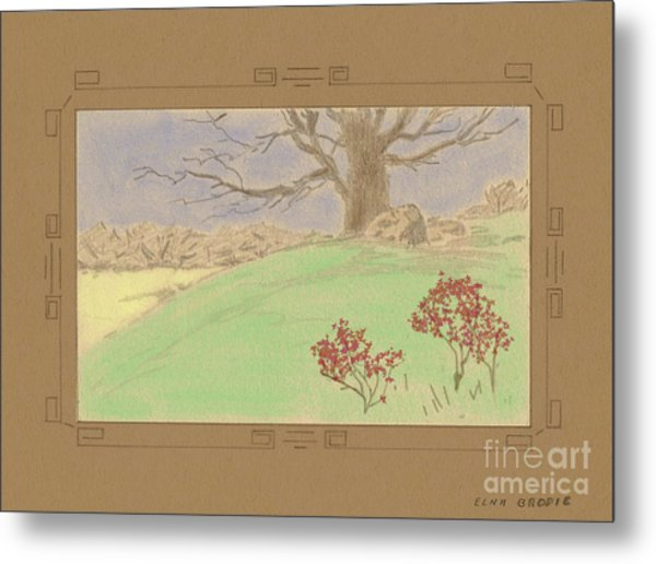 The Old Gully Tree Metal Print