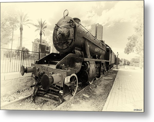 The Old Locomotive Metal Print