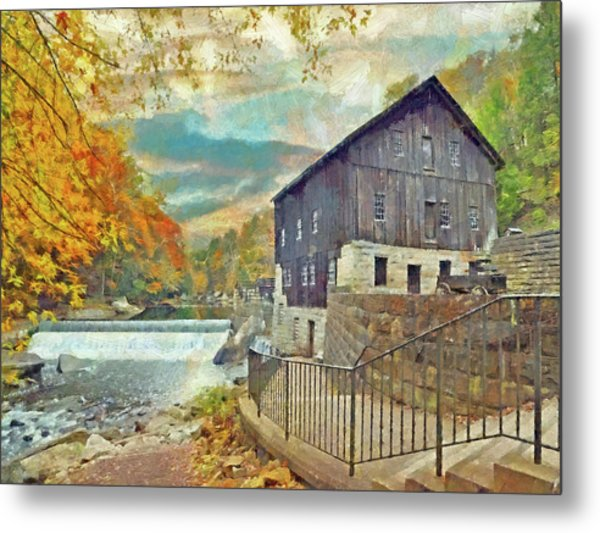 The Old Mill At Mcconnells Mill State Park Metal Print