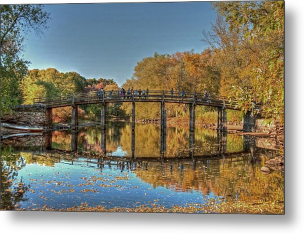 The Old North Bridge Metal Print