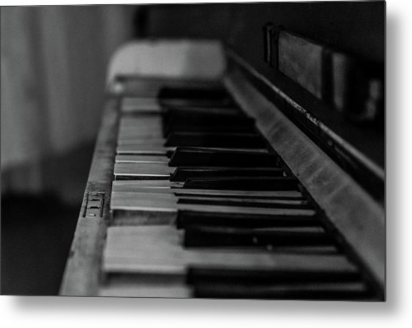 The Old Piano Metal Print