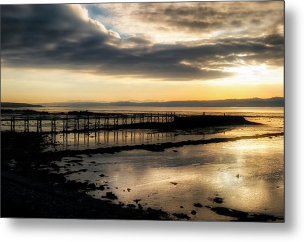 The Old Pier In Culross, Scotland Metal Print