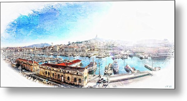 The Old Port Of Marseille  2 Metal Print