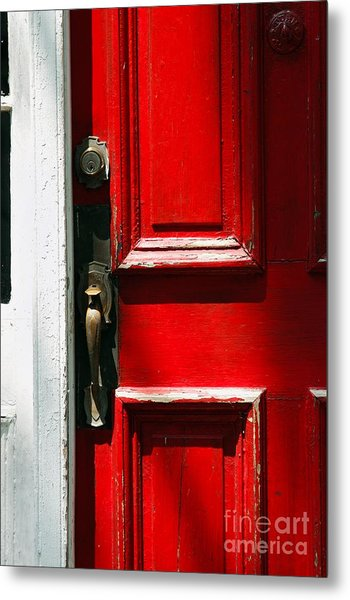 The Old Red Door Metal Print by Hideaki Sakurai
