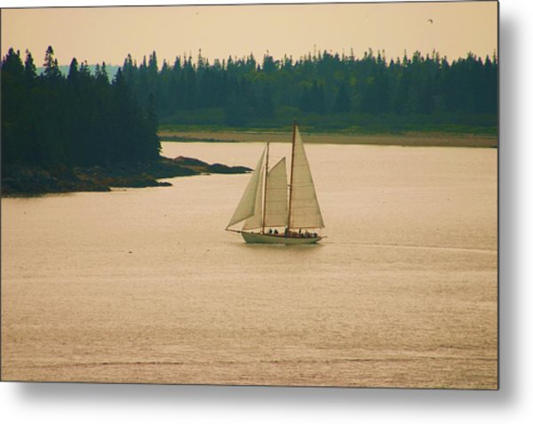 The Old Schooner Metal Print by Dennis Curry