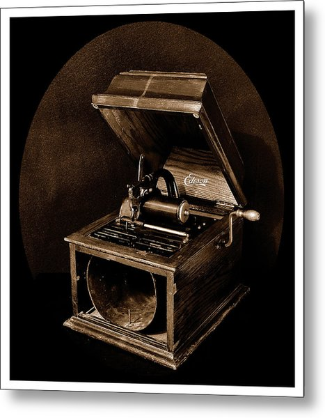The Old Victrola Metal Print