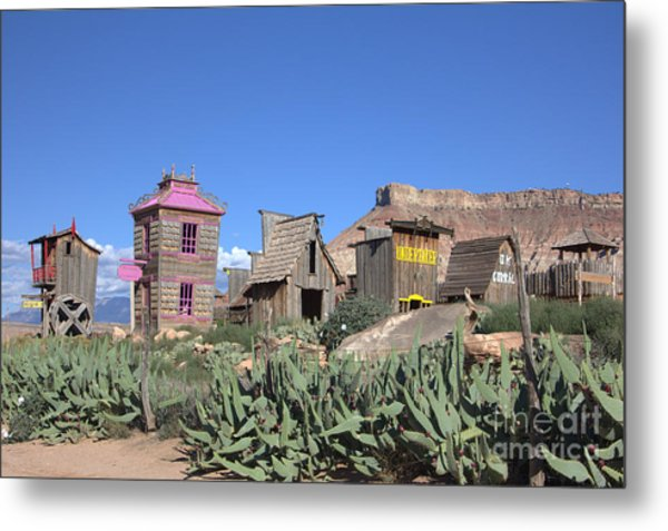 The Old Western Town  Metal Print