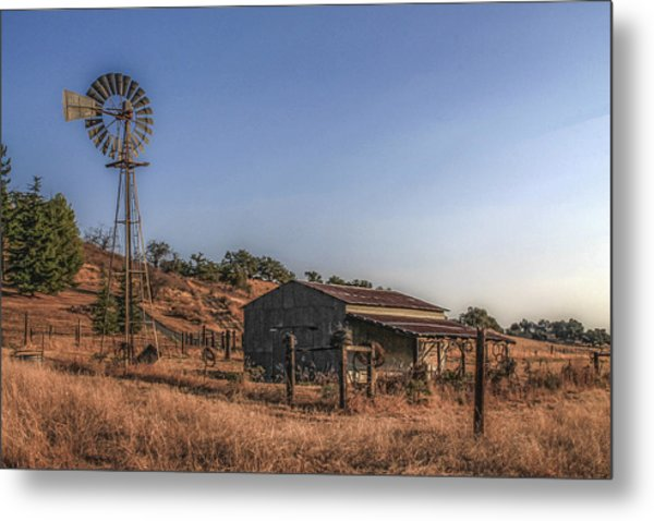 The Old Windmill Metal Print