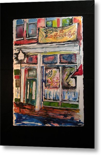 The Olive Branch Cafe Metal Print