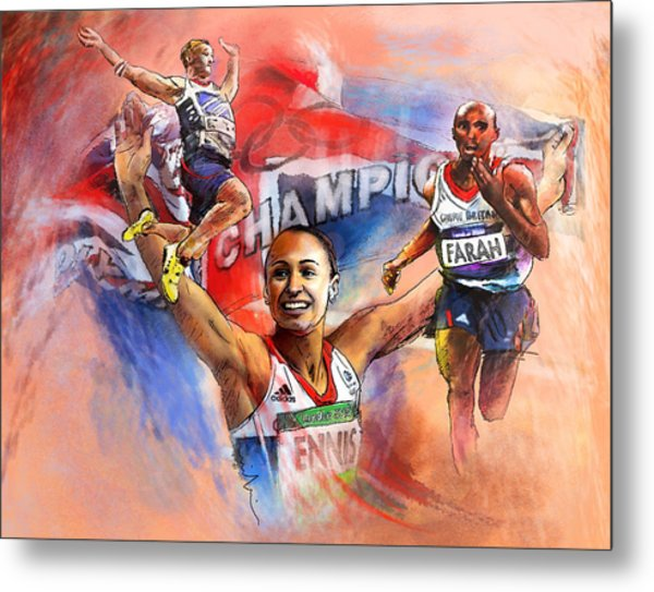 The Olympics Night Of Gold Metal Print