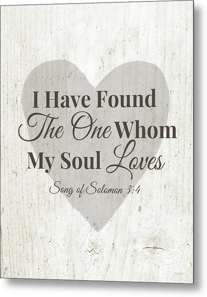 The One Whom My Sould Loves- Art By Linda Woods Metal Print