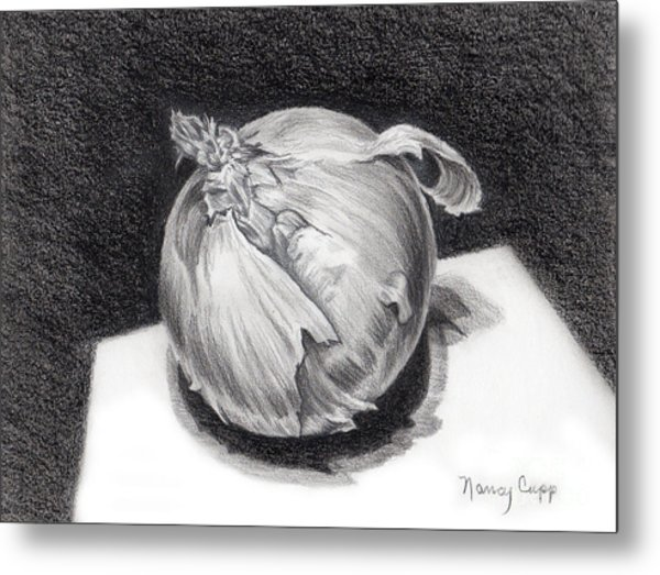 The Onion Metal Print