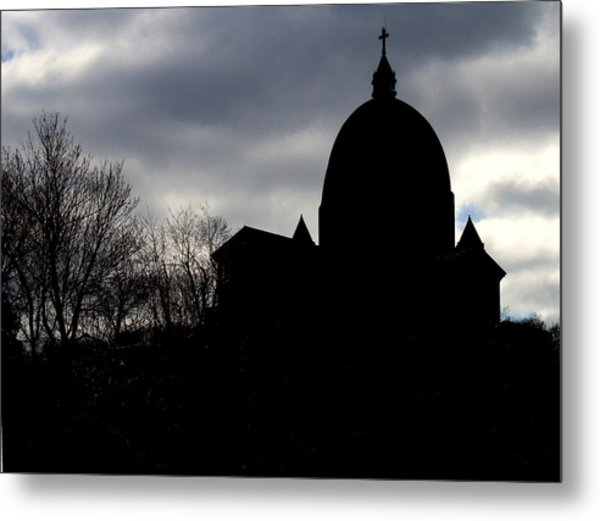 The Oratory - Silhouette Metal Print