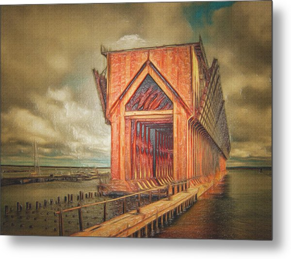 The Ore Is Gone Redux Metal Print