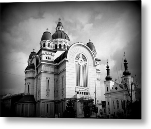 The Orthodox Cathedral And The Saint John The Baptist Church Metal Print
