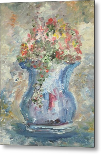 The Oval Vase Metal Print by Edward Wolverton
