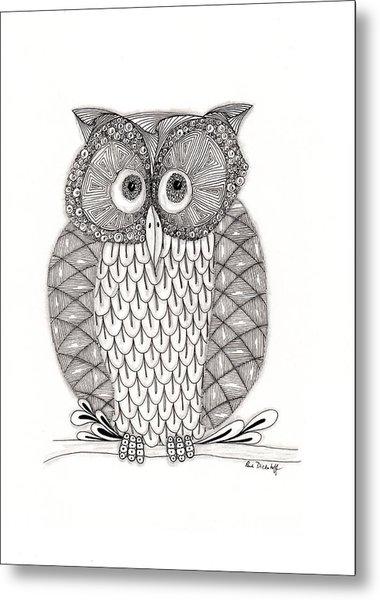 The Owl's Who Metal Print by Paula Dickerhoff