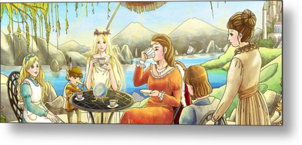The Palace Garden Tea Party II Metal Print