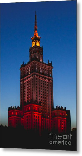 The Palace Of Culture And Science  Metal Print