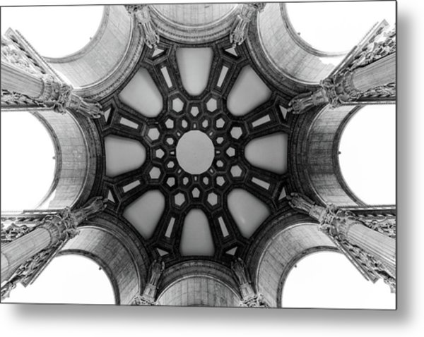 The Palace Of Fine Arts Dome Metal Print