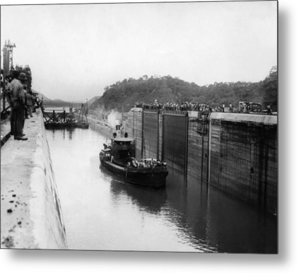 The Panama Canal, Circa 1913 Metal Print