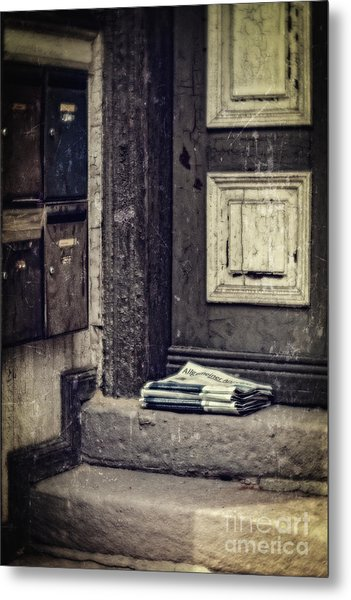 The Paper Boy Was There. Metal Print