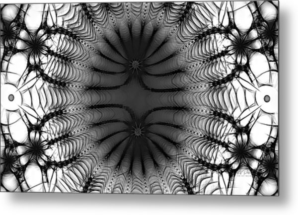 The Paradoxical  Sketch Bw Metal Print