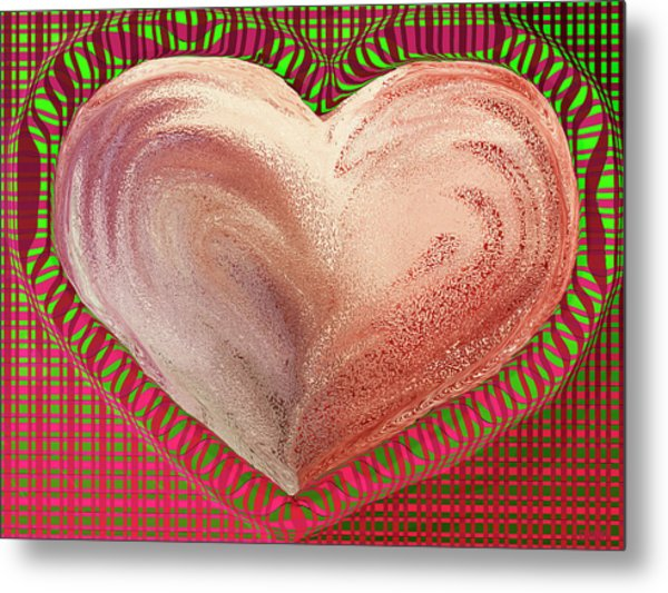The Passionate Heart Metal Print