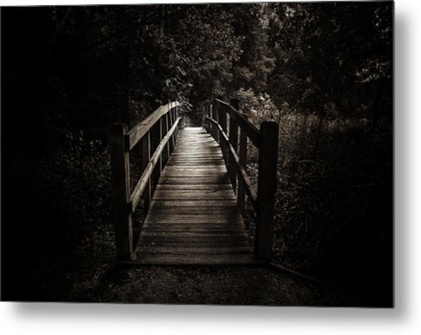 The Path Between Darkness And Light Metal Print