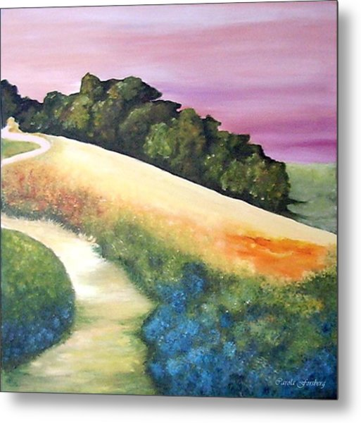 The Path Over The Hill Metal Print by Carola Ann-Margret Forsberg