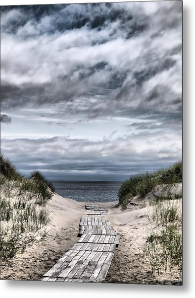 The Path To The Beach Metal Print