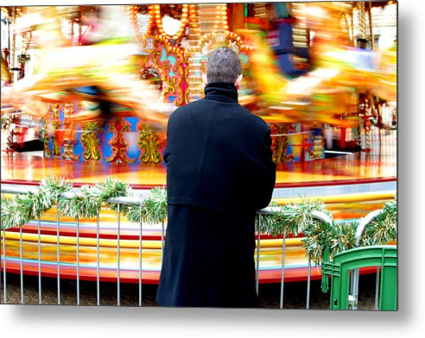 The Patient Father Metal Print by Jez C Self