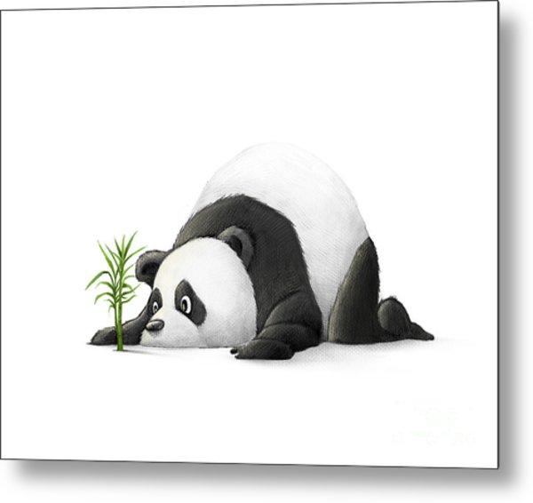 The Patient Panda Metal Print