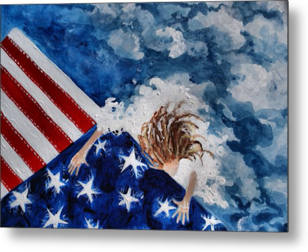 The Patriot Returns Home Metal Print by Mary Sonya  Conti